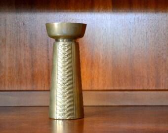vintage large brass candle stick holder