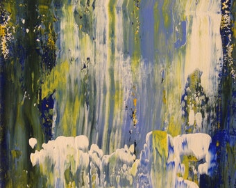 The Waterfall Abstract Art Print