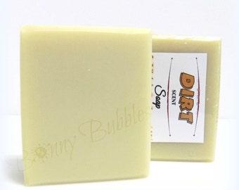 DIRT soap - smells like fresh potting soil, compost dirt - hunters soap to mask odors