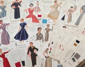 Vintage 1950s Fashion Frocks Illustrations PDF - Salesman Sample Cards Collection 80+ - INSTANT DOWNLOAD