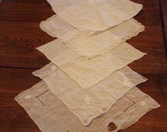 Vintage White Handkerchiefs