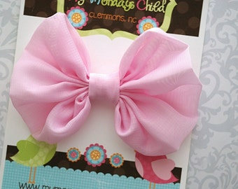 Pink Hair Bow, Pink Bow, Pink Toddler Bow, Pink Girls Bow, Toddler Bow, Girls Bow, Toddler Bows, Toddler Hair Bow, Girls Hair Bow