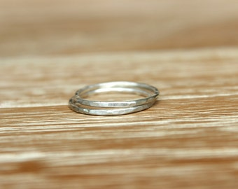 Two Silver Stackable Rings