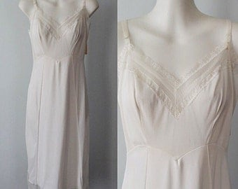 Vintage Slip, Vintage Slips, Vintage Lingerie, 1960s Slips, 1960s Miss Youth Form, White Full Slip, Wedding, Romantic