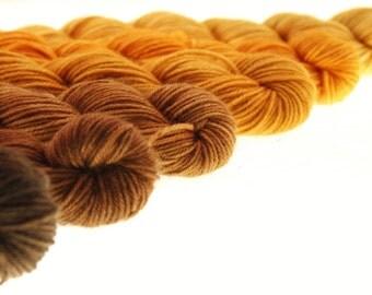 Mini Skein Set Choose Your Yarn Base -  Samhain