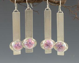 SALE Clearance .... Petite Flower Earrings .... sterling silver  Artisan Jewelry earrings modern minimal organic EARRINGS by Mikelene