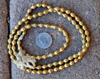 African Brass Bicone Beads: (5x7mm)