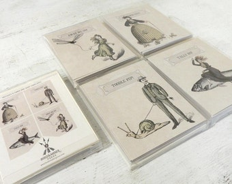 Greeting Cards, Funny Greeting Card, Greeting Card Set, Thank You Cards, Note Cards, Notecard Set, Quirky Gifts, Victorian Notecards