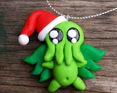 Cthulhu Claus holiday ornament shipping included. SALE!