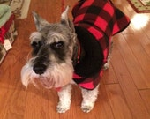 Buffalo Check Fleece Dog Coat