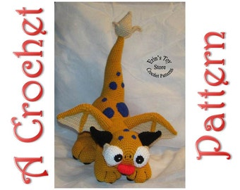 Sunshine the Biggie Dragon Mon a Crochet Pattern by Erin Scull