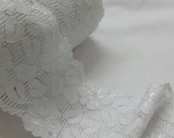 Stretch lace - 1 yard of white lace