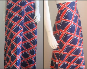 70s vintage british maxi skirt