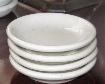 Vintage Ironstone Butter Pats White Ironstone Pats Kitchen Dining/Antique Ironstone Butter Pats/Home and Living/Kitchen Decor/Vintage Dining