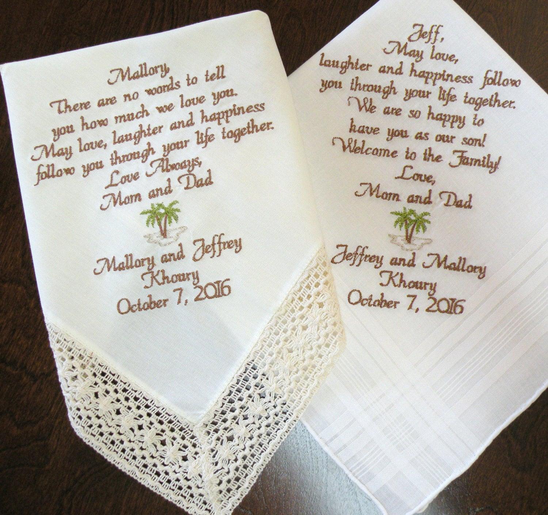Wedding Day Gifts Handkerchief For Son Daughter Wedding