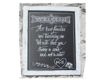 Wedding Choose A Seat - Wedding Chalkboard Art Signage - chalkboard sign