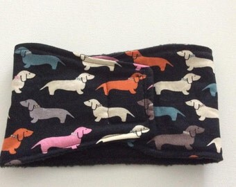 Male Dog Belly Band - Dog Diaper - Pastel Doxies - Available in all Sizes