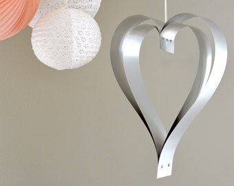 Large Metal Hanging Heart - romantic statement decoration for both indoors and out!