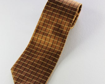 Brooks Brothers Necktie / Silk Necktie / Gold Pattern Tie / Vintage / Dress Necktie / GOGOVINTAGE