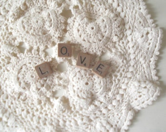 Scrabble Letters LOVE Farmhouse Decor Wedding Cake Topper Small Love Sign Boho Wedding Sign