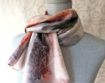 Beige, Black and Brown with Gold Silk Scarf Discounted