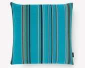 Maharam Pillow Cover - Maharam - Paul Smith Point fabric - Cyan / Turquoise - Many Sizes Available