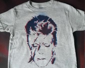 David Bowie kids t-shirt toddler tee youth t shirt Ziggy Stardust fan pop art rock n roll rebel kids