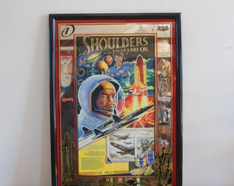 """Allied Domecq, """"Shoulders to Stand On"""" Tribute to African Americans in Air / Space ~Dr. Jemison, Buford Jr. & Dr. Brown Jr.  BAR MIRROR SIGN"""