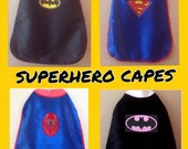 Superhero Cape, Robin Cape, The Flash Cape, Superman Cape, Batgirl, SuperGirl, Black Cape, Blue Cape, Superman, superman kids, superhero