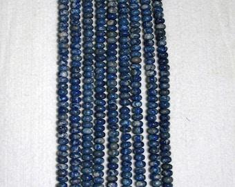 Lapis, Lapis Lazuli, Matte Lapis, Matte Lapis Rondelle, Grade A, Natural Stone, Semi Precious Stone, Full Strand, 8 mm, AdrianasBeads