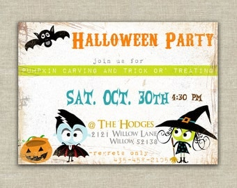 Monster Halloween invitation