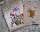 Padded Satin Easter Card Original Box Oversized Vintage at Quilted Nest