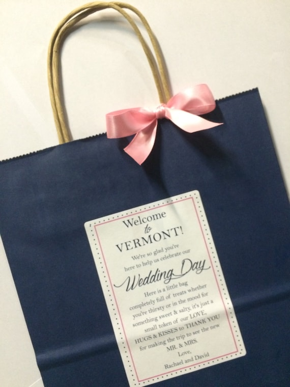 Wedding Gift Bag Notes : Wedding Welcome Bag Hotel Guest Bag Destination Wedding Bags