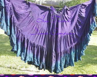 25yd Hand Dyed Violet Blue to Blueberry ruffle 25yd skirt