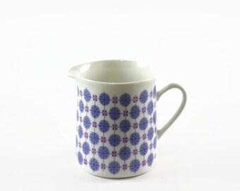 Vintage Porsgrund China Ceramic Pitcher, Mid Century Modern Dinnerware, Scandinavian Decor, Cream Pitcher