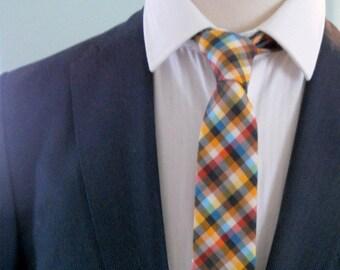 Colourful Check Cotton Neck Tie