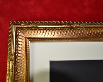 8 x 10 Antique Gold Picture Frame - Wood Photo Frame