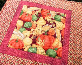 Fall Bounty Quilted Table Runner/mini quilt
