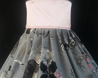 Girls Pink and Grey Ghastlies Dress