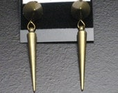 Bronze Colored Spike and Cone Stud Earrings