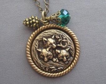 Fox Necklace - Fox Jewelry - Fall Jewelry - Fall Necklace - Woodland Jewelry - Nature Jewelry - Fox Pendant - Animal Jewelry - Foxes
