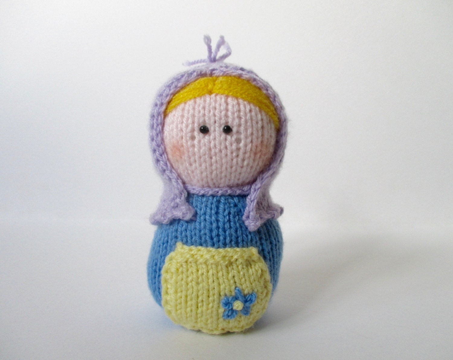 Knitting Pattern Russian Doll : Matryoshka toy doll knitting pattern