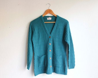 Teal Turquiose Cardigan Women's Medium