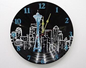 Seattle Sky Line Clock