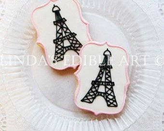 Eiffel Tower Cookies  1 Dozen (12)