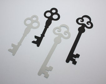 18 x Skeleton Key Die Cuts