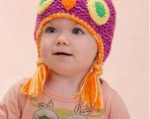 Knitting Pattern OWL Hat  Instant Download Knitting Pattern Baby OWL Hat Knitted Hat Boy Girl Animal Hat