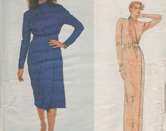 Vintage Vogue Paris Original Designer Nina Ricci WRAP DRESS Sewing Pattern UNCUT With Label