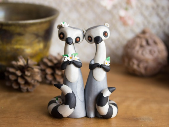 Lemur Wedding Cake Topper Ring Tailed Lemur By By