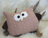 Hoot - felted wooly woodlander